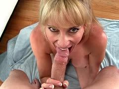 Milf gives hot blowjob
