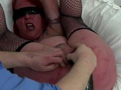 Milf is tortured with dildo and clamps