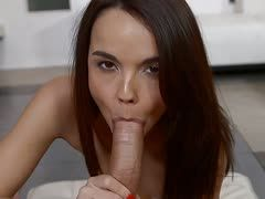 Cute Dillion Harper sucks a cock