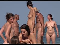 Permissive naked teens at the beach