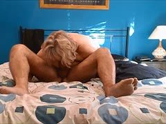 Chubby granny has 69er oral sex
