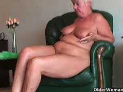 Hot grandmas show solo sex