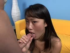Asia babe Evelyn Lin sucks Kris Slater's cock