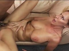 Blonde milf wants to try a black cock