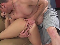 He fingers her wet and fucks her until she squirts