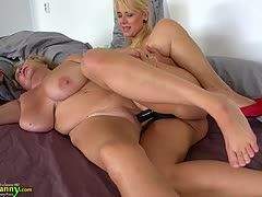 Very fat old granny wants to be fucked by her young girlfriend