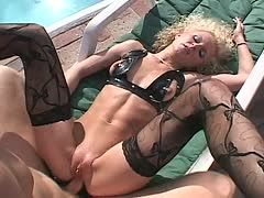 arsch blondine interracial