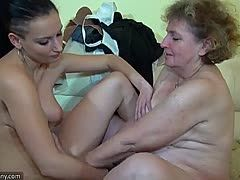 Young lesbians fuck old women