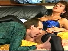 69er and doggystyle with horny young granny