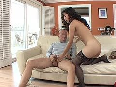 Daddy gives his sex-starved stepdaughter a lesson
