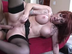 Red-haired milf bitch Brittany O'Connell enjoys rough sex