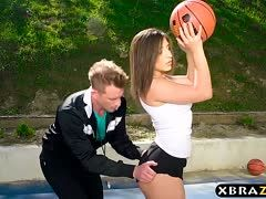 Abella Danger bangs with ass and basketball