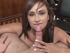 Sultry housewife swallows every drop