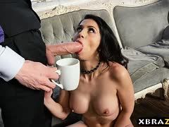 Psychiatrist with mega dick bangs a Latina's ass