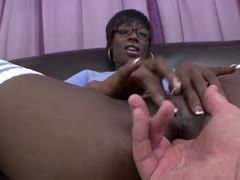Black cunt is fingered hard