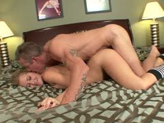Schoolgirl's cunt is nailed by the stepfather