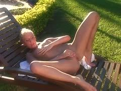 Solo sex on the deck chair