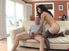 18 years old Latina seduces old man
