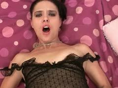 Pov sex with very beautiful goth girl in pantyose