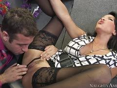 Sultry milf is fucked in the office